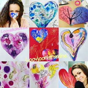 Loovjoonistamine südamed