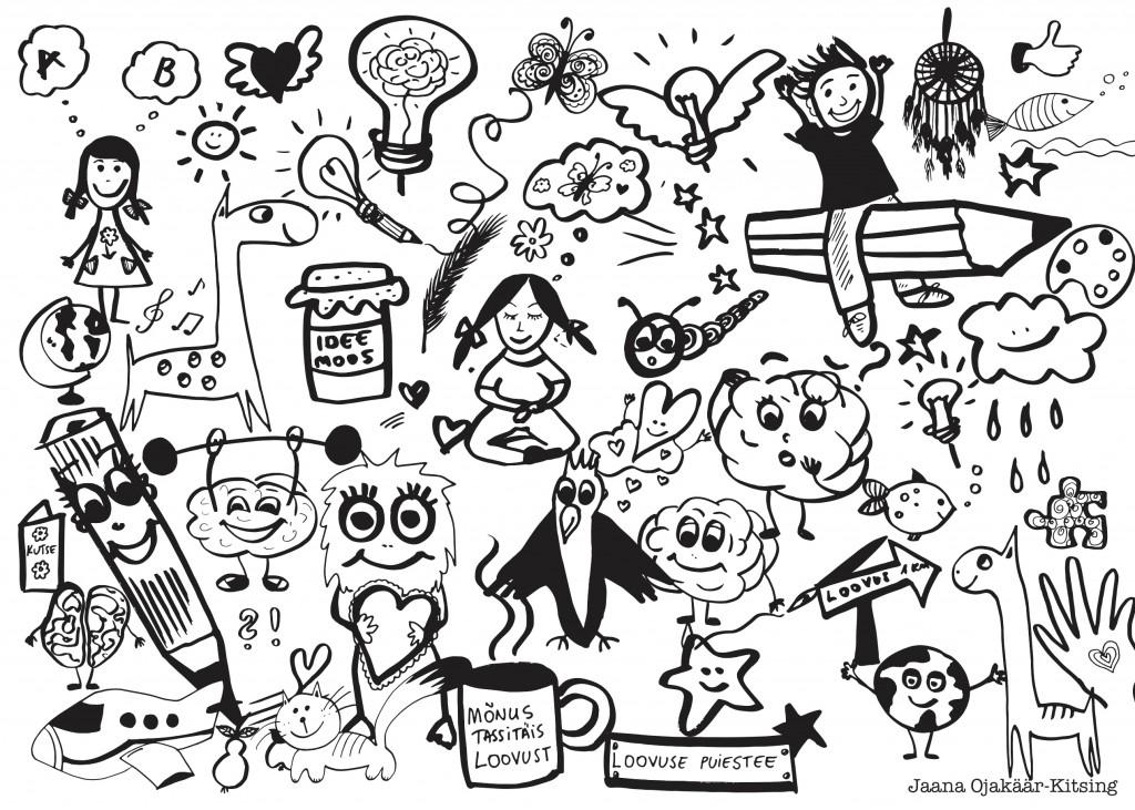 Illustratsiooni PAI LAPSE LOOVUSELE raamatust